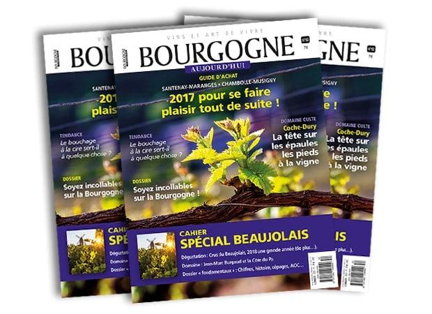 Meilleure note de la dégustation revue BOURGOGNE AUJOURD'HUI